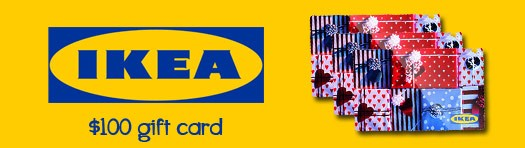 a 100 ikea gift card contest website december 19 2013. Black Bedroom Furniture Sets. Home Design Ideas
